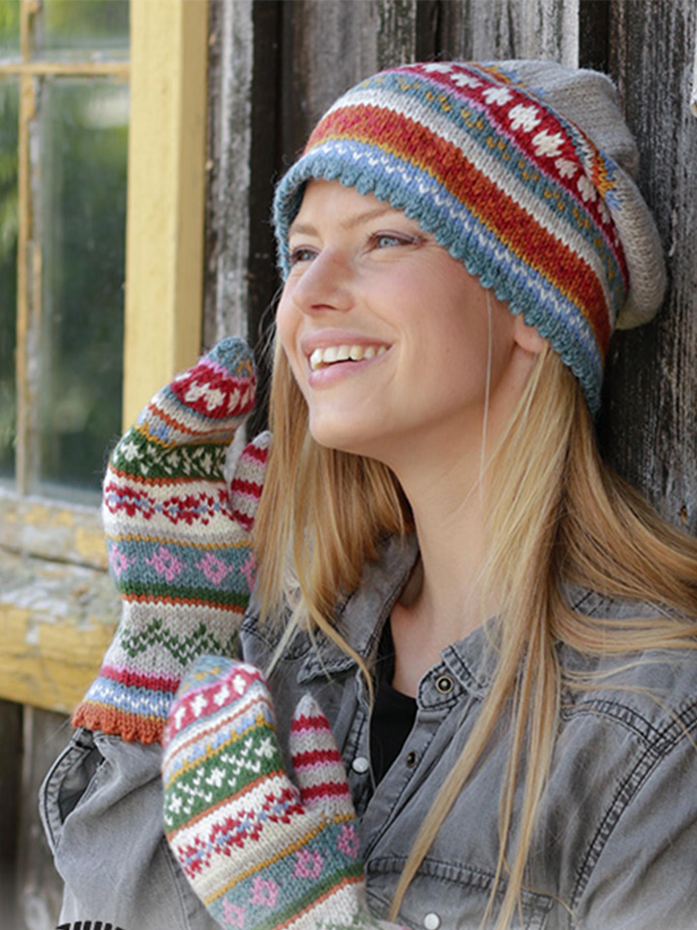 ski-lodge-chunky-crochet-padrao-de-chapeu-pom