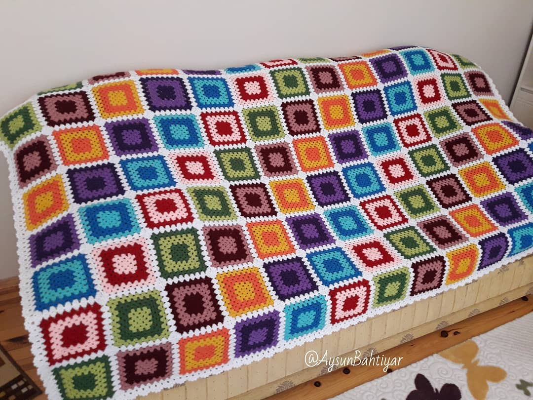 o-cheeriest-mais-colorido-crochet-cobertor-padroes